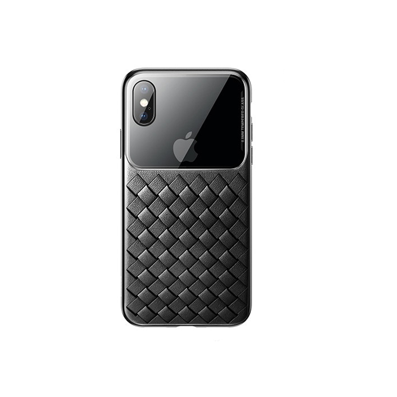 Husa Baseus Glass & Weaving Case For iPhone XR...