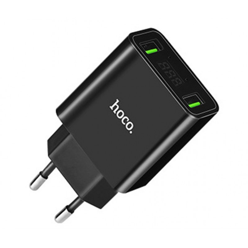 Hoco Cool double port charger(EU), black C25A