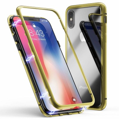 Husa Baseus magnetite hardware Case For iPhone XR, Gold