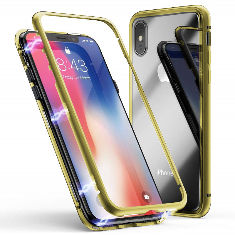 Husa Baseus magnetite hardware iPhone X/XS, Gold
