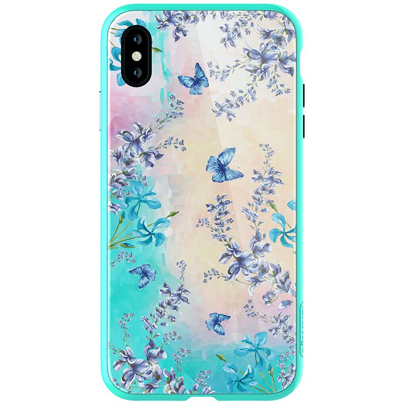 Husa Nillkin Floral Iphone XS Max, blue