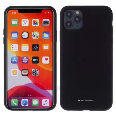 Husa Goospery Mercury Liquid Silicone iPhone 11 Pro, black