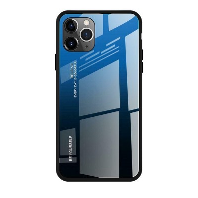 Чехол iPhone 11 Screen Geeks Glaze, black&blue