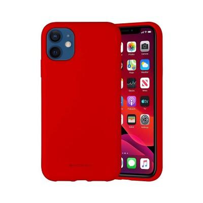 Чехол iPhone 12 mini Goospery Mercury Liquid Silicone, red
