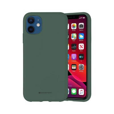 Чехол iPhone 12 Pro Goospery Mercury Liquid Silicone, green