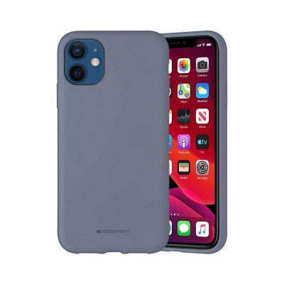 Чехол iPhone 12 Pro Max Goospery Mercury Liquid Silicone, lavander gray