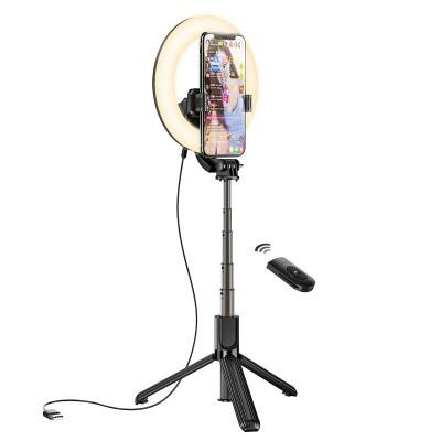 Кольцевая лампа Hoco LV03 Showfull fill light live broadcast holder, black